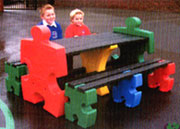 Jigsaw table eating bench. jpg